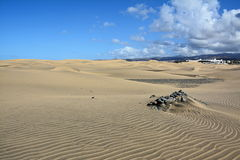 Dunes de sable des maspalomas Photos libres de droits