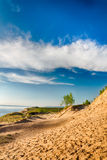 Dunes de sable du Michigan Images libres de droits