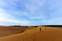 Dunes de sable en Ne de Mui, thiet de Phan, Vietnam Images stock