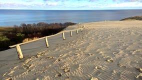 Dunes de sable et golfe, Lithuanie Photo libre de droits