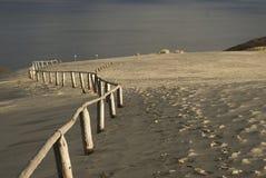Dunes de sable et golfe, Lithuanie Photo stock