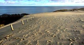 Dunes de sable et golfe, Lithuanie Image stock