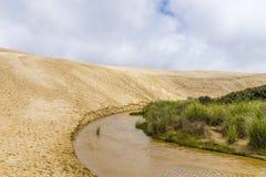 Dunes de sable géantes de Te Paki photos libres de droits