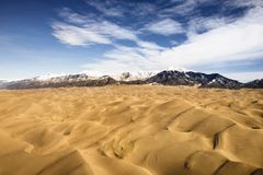 Dunes de sable grandes NP, le Colorado. Photos libres de droits
