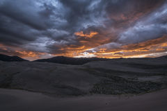 Dunes de sable grandes stationnement national, le Colorado, Etats-Unis photos libres de droits