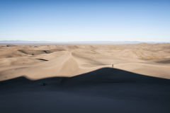 Dunes de sable grandes stationnement national, le Colorado, Etats-Unis photo libre de droits