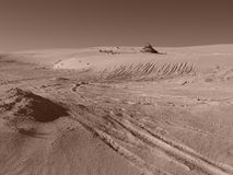 Dunes de sable, Lancelin WA photographie stock libre de droits