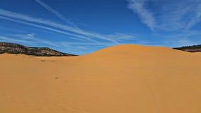 Dunes de sable roses de corail Photos stock
