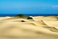 Dunes de sable sur le coucher du soleil Photos stock