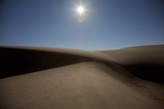 Dunes de San la nuit Photographie stock