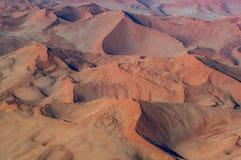 Dunes de vue aérienne de Sossusvlei Parc national de Namib-Naukluft l'afrique photo libre de droits