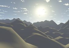 Dunes of the desert. Is a beautiful image of the dunes of the desert landscap Stock Photo