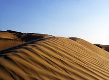 Dunes of the desert Royalty Free Stock Photo