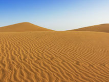 Dunes of desert Royalty Free Stock Photos