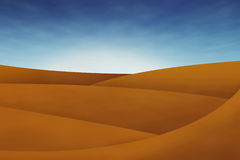 Dunes in the desert with blue sky Royalty Free Stock Photos