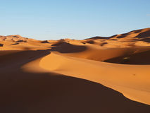 Dunes of desert Erg Chebbi in Morocco Stock Images