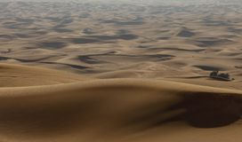 Dunes in the desert stock photo
