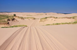 Dunes drive Royalty Free Stock Image