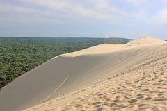 Dunes du Pilat, France. Sand dunes of the dune de Pyla Stock Images