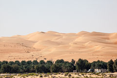 Dunes in the Empty Quarter desert Stock Photos