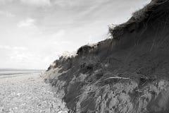 Dunes endommagées après la grande tempête photo libre de droits