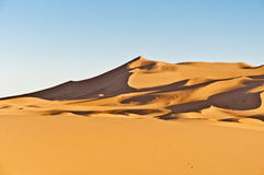 Dunes of Erg Chebbi at Morocco Royalty Free Stock Photography