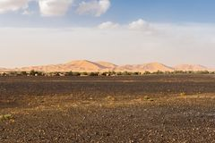 Dunes of Erg Chebbi near Merzouga Royalty Free Stock Photos