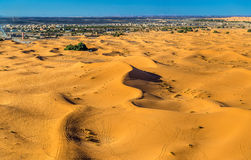 Dunes of Erg Chebbi near Merzouga in Morocco Royalty Free Stock Image