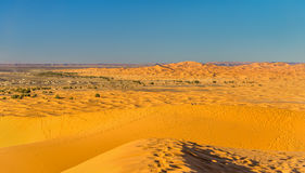 Dunes of Erg Chebbi near Merzouga in Morocco Royalty Free Stock Photos