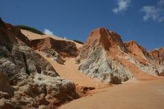 Dunes et falaises sur la plage de Beberibe photographie stock libre de droits
