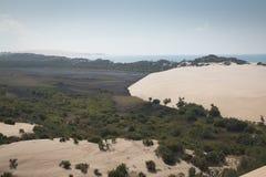 Dunes et forêt sur les îles de Bazaruto Images stock