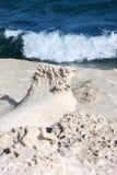 Dunes et ondes fossilisées, côte espagnole Images libres de droits