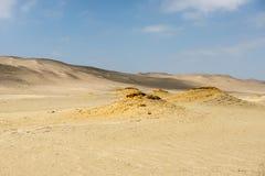 Dunes et sable dans Paracas Photographie stock libre de droits