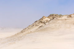 Dunes in foggy weather. Leba, Poland. Royalty Free Stock Images