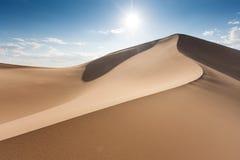 Dunes of Gobi. Sand dunes Khongoryn Els in Gobi Desert, Umnugovi, South Gobi, Mongolia Stock Photography