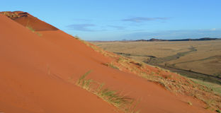 Dunes of Kalahari in Namibia Africa Stock Photography