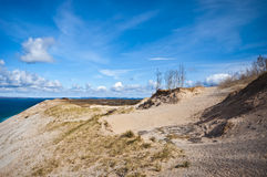 Dunes at Lake's Edge, Michigan Royalty Free Stock Photo