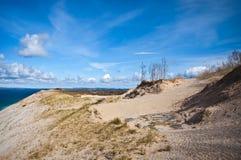 Dunes at Lake's Edge, Michigan Royalty Free Stock Photo