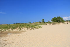 Dunes in Ludington State Park in Michigan Royalty Free Stock Photography
