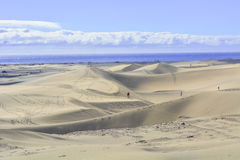 Dunes of Maspalomas in Gran Canaria, Spain Stock Photo