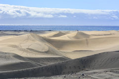 Dunes of Maspalomas in Gran Canaria, Spain Royalty Free Stock Image