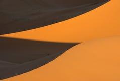 Dunes in Moroccan desert Royalty Free Stock Photos