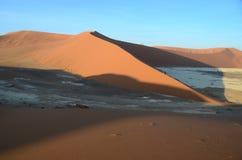 Dunes in Namib desert, Namibia. Africa Royalty Free Stock Images