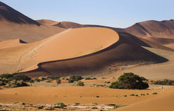Dunes. In Namib-Naukluft National Park, Namibia, Southern Africa stock image