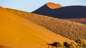 Dunes. In the Namib Naukluft National Park, Sesriem, Namibia Royalty Free Stock Photography