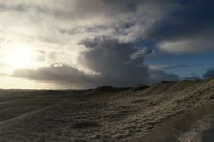 Dunes on the North Frisian Island Amrum. In Germany Stock Images