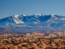 Dunes pétrifiées et montagnes de sel de La images libres de droits