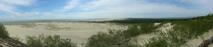 Dunes Panorama. The photo was taken on Parnidis dune in Nida, Lithuania in 2007 stock image