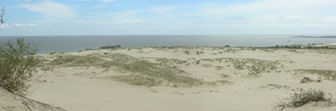 Dunes Panorama. The photo was taken on Parnidis dune in  Nida, Lithuania in 2007 Royalty Free Stock Image
