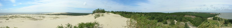 Dunes Panorama. The photo was taken on Parnidis dune in Nida, Lithuania in 2007 royalty free stock photos